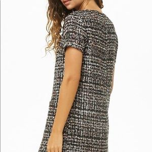 Forever 21 Black tweed dress size small NWT